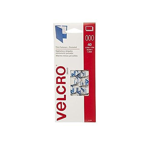 Klettverschluss Marke–dünn gurthalteband–premated–Ovale, 40Sets–Weiß