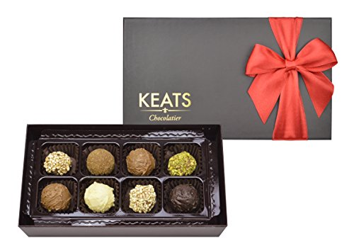 KEATS CHOCOLATIER FINE TRUFFLES ASSORTMENT IN HAND MADE GIFT BOX CHOCOLATE 90g MOTHERS DAY GIFT