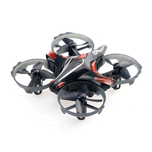 Jamicy T2 Mini 2.4G Geste Induktion + Fernbedienung Dual-Modus RC Drone Quadcopter UFO Dual Akku, Halloween Weihnachten Spielzeug für Kinder Freunde (Schwarz)