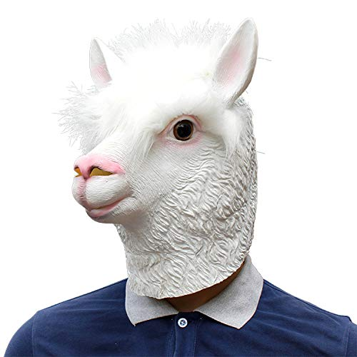 LBAFS Halloween Cosplay Bar Party Gras Schlamm Pferd Alpaka-Maske