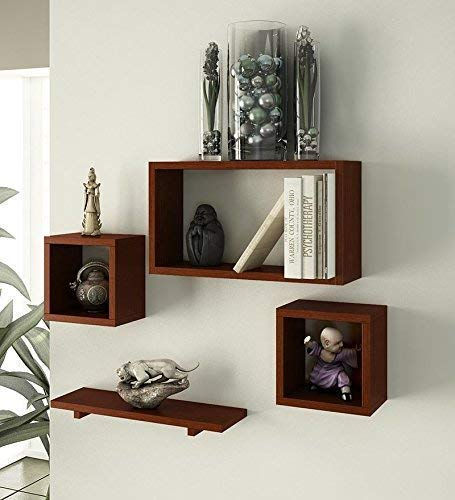 CRAFTKINGS Rafuf Floating Wall Shelf with 4 Shelves  Brown