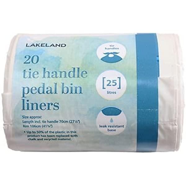 20 PACK SWING PEDAL BIN LINERS WITH TIE HANDLES FRAGRANCED BIN BAGS 50 LITRE