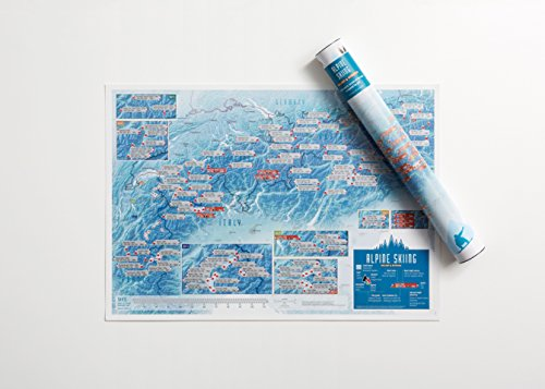 Alpine Skiing Collect and Scratch Print por Maps International Ltd