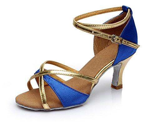Vesi - Donna Scarpe da Ballo Latino/Sala da Ballo/Standard Tacco 5cm/7cm Blu