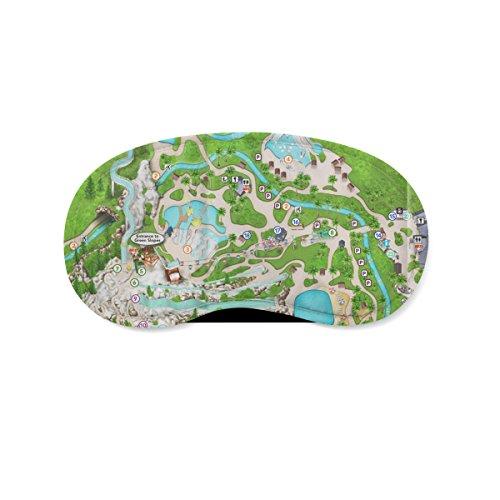 Blizzard Beach Map Schlafaugenmaske/Augenmaske