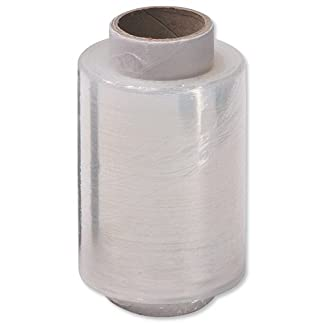 Stretch Packaging Film Wrap Refill Rolls 100mmx150m Clear Brown [Pack 10]