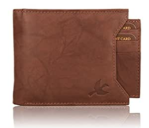 Hornbull Men's Washed Brown Rigohill RFID Blocking Leather Wallet