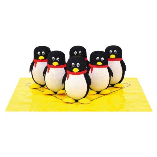 EDUPLAY 170-204 Pinguin Bowling, 6 Kegel & 1 Kugel, mit Tragetasche, schwarz/rot/gelb, 8-teilig (1 Set)
