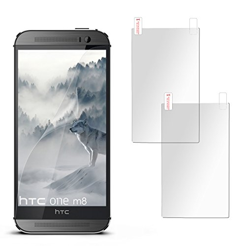 2X HTC One M8 | Schutzfolie Matt Display Schutz [Anti-Reflex] Screen Protector Fingerprint Handy-Folie Matte Displayschutz-Folie für HTC One M8/M8s Displayfolie