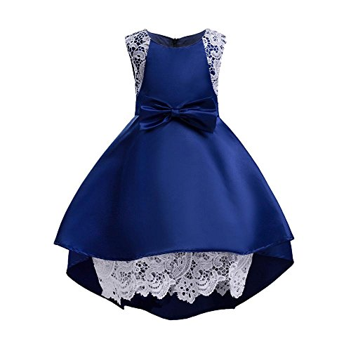 Likecrazy Baby Mädchen Prinzessin Kleid Spitze Hochzeit Kleid Brautjungfer Festzug Kleid Kleinkind Kinder Baby Abendkleid Partykleid Vintage Retro Ärmellos Festlich Kleid