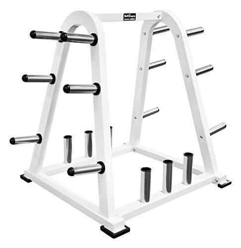 Hantelstangen und Hantelscheiben-Ständer I Ablage-Rack für Langhantelstangen und Gewichte, 50/51 mm I Max. Tragkraft 700 kg I BCA-04 ()