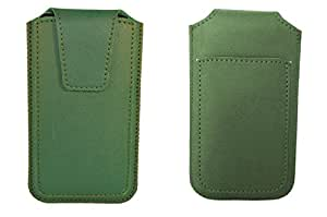 TOTTA PU Leather Pull Up Pouch For BLU Win JR LTE- GREEN