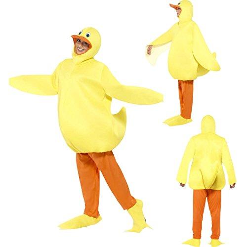 Imagen de disfraz de pato traje completo patito unisex vestido de carnaval polluelo atuendo animal pájaro ropa carnavalera ave disfraz divertido de adulto alternativa