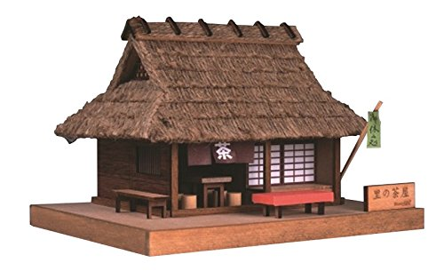 Preisvergleich Produktbild TEASHOP IN A VILLAGE MINI MODEL WOODEN BUILDING:WOODY JOE