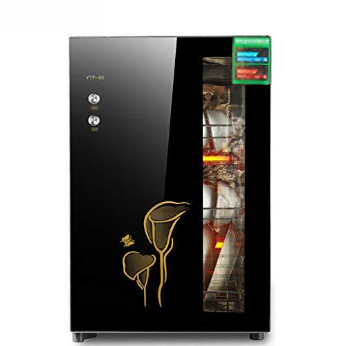 MXRqndqa Wärmegeräte Hochtemperaturdesinfektion Schrank 60L Desktop Mini integrierte vertikale Edelstahl Desinfektion Schrank Haus Vertikal Schrank (Größe: 420x370x645mm) (Farbe : SCHWARZ)