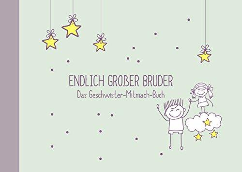 """Geschenk für großen Bruder:""""kleine Schwester + großer Bruder""""-Buch (Öko, Recycling-Papier, Erinnerungsalbum/Fotoalbum für Geschwister zur Geburt)"""
