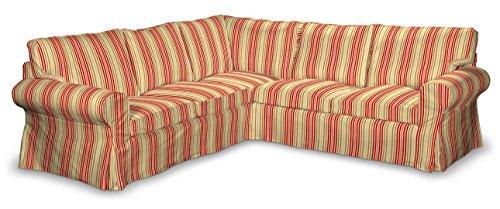 Dekoria Ektorp Ecksofabezug Sofahusse passend für IKEA Modell Ektorp rot-Oliv-Creme ektorp Bezug ecksofa, ecksofa husse ektorp, IKEA Bezug ecksofa, Sofahusse IKEA, ektorp Couch