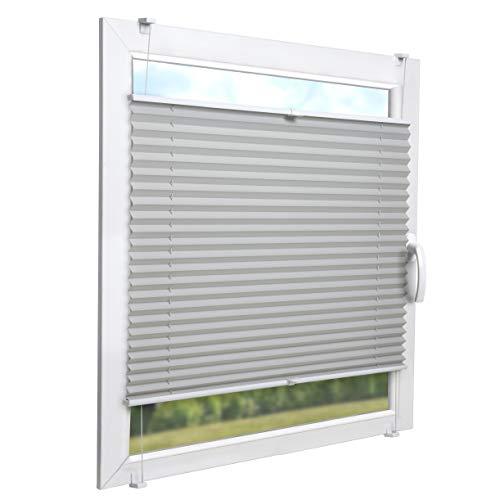Sol royal tenda plissettata per finestre soldecor p26-65x120 cm grigio - veneziana plissé per interni - ganci inclusi