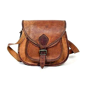 9″handgemachte echtes Leder Damen Satchel Handtasche Handtasche, Leder Umhängetasche für Frauen von UOG