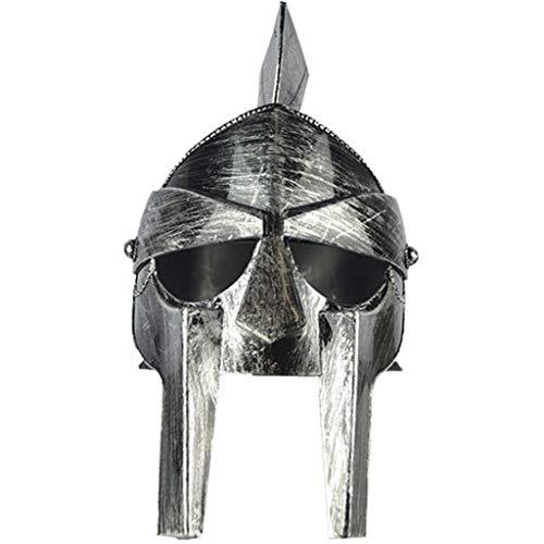 Kostüm Piraten Partei - QWEASZER Urlaub Partei liefert Piraten Samurai Hut Wikinger Helm Kostüm Zubehör Männer Nordic Warrior mittelalterlichen nordischen Gott Hut mit Hörnern,F-OneSize