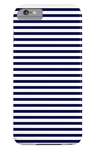 SHUPUO Hülle Navy Blue & White Maritime Small Stripes- Mix & Match with Simplicity of Life TPU Silikon Handyhülle für iPhone 6 Plus/6S Plus - Mix Plus Match