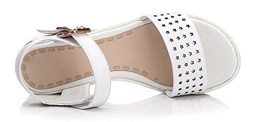 Estilo Feminino Moda Verão Oco Esculpida Branco Sexo Pendurar Do Com Mulher Estudantes Sapatos Sandálias nBxq45