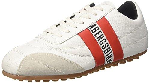 Bikkembergs Soccer 106, Sneaker Unisex – Adulto, Bianco (White/Red 835), 38 EU