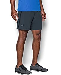 Under Armour Mens Shorts (190086900605_1291945-8_X-Small_Stealth Gray, Black and Reflective)