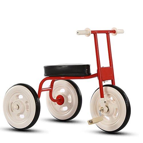 Bici per bambini Guo shop- Bambino semplice Triciclo Bicicletta vintage Bicicletta bimbo 1-3-4 anni Carrozzina Carrozzina per bambini (Colore : Red)