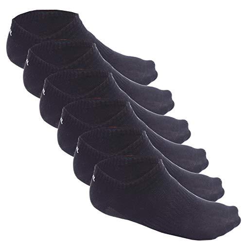 LEMIEL® exklusive Herren & Damen Sneaker Socken aus Bambus (6x Paar) | Maximal Atmungsaktiv und Ergonomisch (M, Schwarz) -