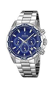 Festina - F16766/2 - Montre Homme - Quartz Analogique - Chronomètre/ Aiguilles lumineuses - Bracelet Acier Inoxydable Argent