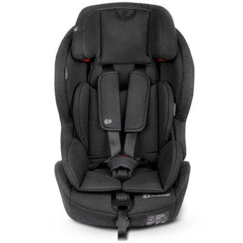 Kinderkraft SAFETYFIX ISOFIX Kindersitz Autokindersitz 9 bis 36 kg gruppe 1 2 3 (Schwarz)