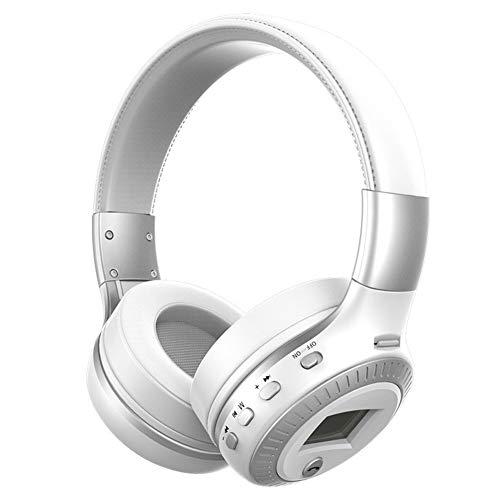 Preisvergleich Produktbild Bluetooth-Kopfhörer Over-Ear Kopfhörer Hi-fi Stereo Sound faltbare Kabellose Headsets integriertes Mikrofon Noise concelling Sport Kopfhörer für Smartphone,  für iPhone,  silber