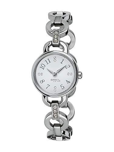 Orologio breil donna agata quadrante mono-colore bianco movimento solo tempo - 2h quarzo e bracciale acciaio ew0278