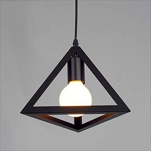 TEMBAC Dreieck Cube Metall Pendelleuchte Kronleuchter Hohe Helligkeit E27 LED Restaurant Pendelleuchte Innen Barn Cafe Garage Dekoration Decken-Beleuchtung Höhenverstellbarkeit -