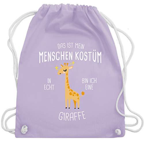 (Karneval & Fasching - Das ist mein Menschenkostüm in echt bin ich eine Giraffe - Unisize - Pastell Lila - WM110 - Turnbeutel & Gym Bag)
