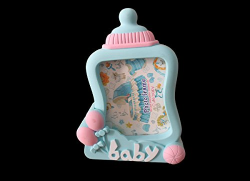Peachy Geekgoodies Baby Milk Bottle Design Desk Table Alarm Clock With Photo Frame Blue Home Interior And Landscaping Spoatsignezvosmurscom