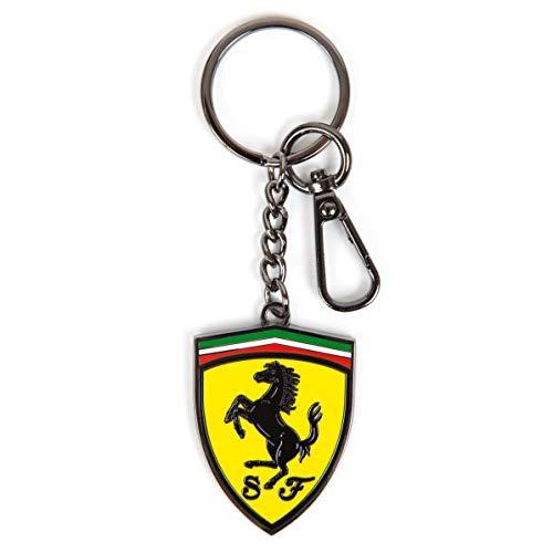 Ferrari - Llavero con Escudo de Metal y Logotipo de Scuderia