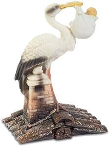 Figurine Cigogne avec bébé - 10,5 cm