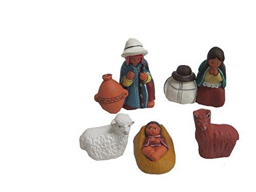 Discount ethnique – Crèche terre cuite porongo Set h.7 cm