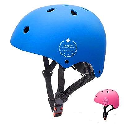 Kids Bike Helmet Adjustable Toddler Skateboard Helmet Impact Resistance Ventilation For Multi-Sports Skateboard Bicycle Scooter Rollerskate BMX Cycling first birthday gift Age 3-8 Years Old Boys Girls by LOVMOV