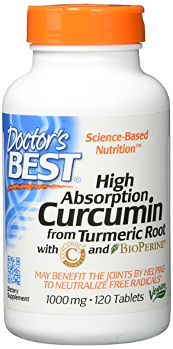 Doctor\'s Best, High Absorption Curcumin aus Kurkumawurzel, 1000mg, 120 Veg. Tabletten