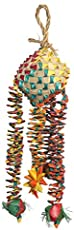 Rosewood 22314 Woven Wonders Vogelspielzeug, Federnde Diamanten, mittel/groß