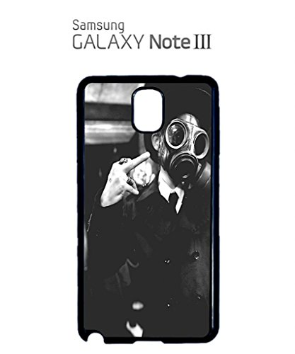 Gas Mask Riot Finger Rude Attitude Mobile Cell Phone Case Samsung Galaxy S4 Mini Black Noir