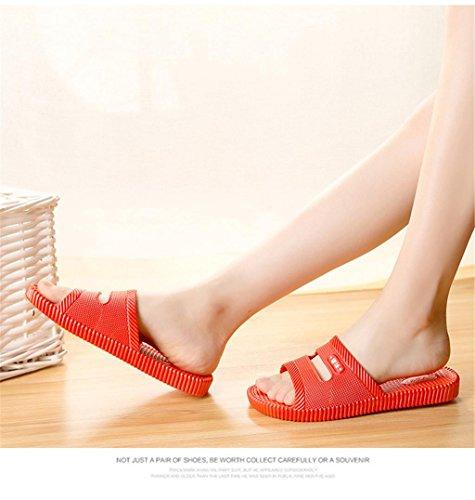 Ciabatte Pantofole da bagno per donna Pantofole per sandali traforati Pantofole antiscivolo per interni ed esterni 2 pezzi a
