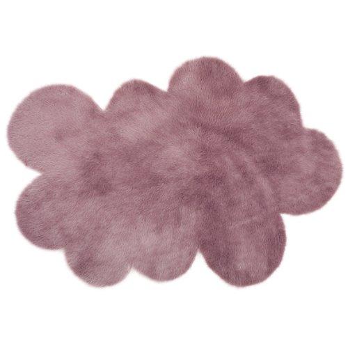 Pilepoil  - Alfombra infantil, diseño de nube, color  malva grisáceo 140 x 200 cm - piel artificial - Fabricado en Francia
