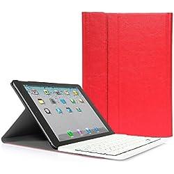 iPad Air 2 CoastaCloud QWERTY Italiano Layout Ultrathin Custodia con Supporto e Tastiera Bluetooth staccabile per Apple ipad Air 2 (A1566 A1567 )Rosso