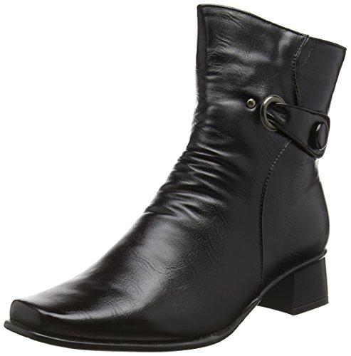 Cushion Walk Women's Sharon Short Boots, Black (Black), 7 UK 41 EU