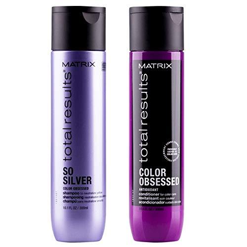 Matrix Shampoo So Silver 300ml & Color Obsessed Conditioner 300ml