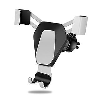 Fan Montiert Schwerkraft Handy Wasserdicht Sitz Intelligente Körper Lüftungshalterung Für Iphone X8 Plus 7 Plus 6 Plus 6 S Plus Samsung S8 S8 Rand S8 S7 Rand 8 Huawei Und Andere Handys,White